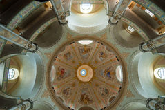 Cupola del Frauenkirche a Dresda fotografia stock libera da diritti