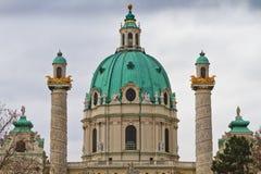 Cupola del Karlskirche (chiesa della st Charles) Fotografia Stock