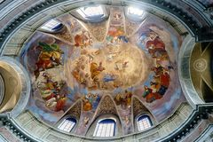 Cupola del Oblate della chiesa cattolica chiamata Immagine Stock Libera da Diritti