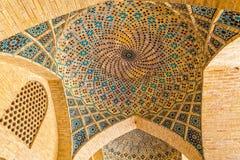 Cupola del soffitto di Nasir Al-Mulk Mosque Immagini Stock