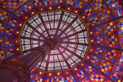 Cupola del vetro macchiato Fotografia Stock