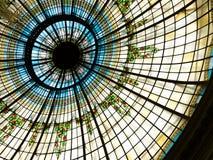 Cupola dell'hotel del palazzo a Madrid, Spagna Fotografie Stock Libere da Diritti