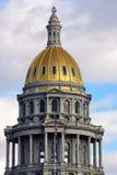 Cupola dell'oro del Campidoglio dello stato di Colorado Immagini Stock Libere da Diritti