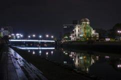 Cupola della bomba atomica di vista di notte Immagini Stock
