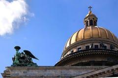 Cupola della cattedrale della st Isaac Immagini Stock