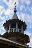 Cupola della chiesa di legno in Kizhi Fotografia Stock Libera da Diritti