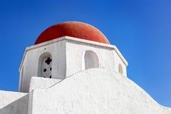 Cupola della chiesa di Mykonos Immagini Stock Libere da Diritti