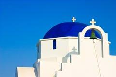 Cupola della chiesa greca Immagine Stock