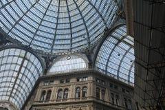 Cupola della galleria di Umberto Fotografia Stock Libera da Diritti