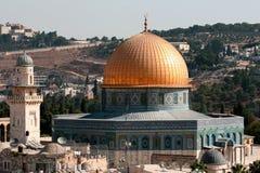 Cupola della moschea della roccia immagine stock libera da diritti