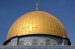 Cupola della moschea della roccia a Gerusalemme Fotografia Stock Libera da Diritti