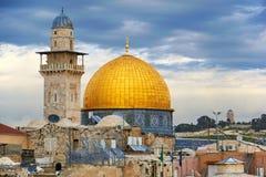 Cupola della moschea della roccia a Gerusalemme Immagini Stock Libere da Diritti