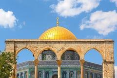 Cupola della moschea della roccia a Gerusalemme, Israele. Fotografia Stock Libera da Diritti