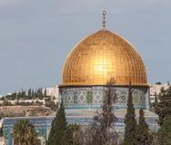Cupola della moschea della roccia un giorno soleggiato Immagini Stock