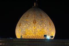 Cupola della moschea di Ceragh dello scià, Shiraz, Iran fotografia stock
