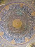 Cupola della moschea, ornamenti orientali dalla moschea dello scià in Isfah fotografia stock libera da diritti