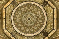 Cupola della moschea, ornamenti orientali, Samarcanda fotografia stock