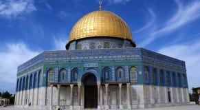 Cupola della roccia a Gerusalemme Fotografia Stock