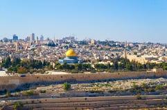 Cupola della roccia a Gerusalemme Fotografia Stock Libera da Diritti