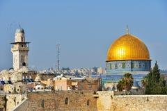 Cupola della roccia a Gerusalemme Immagine Stock