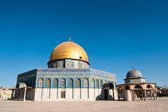 Cupola della roccia a Gerusalemme, Israele. Fotografie Stock