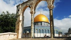 Cupola della roccia a Gerusalemme sopra Temple Mount Immagini Stock Libere da Diritti
