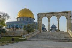 Cupola della roccia nella vecchia città di Gerusalemme Fotografie Stock Libere da Diritti