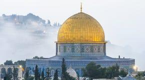 Cupola della roccia nella vecchia città di Gerusalemme Immagini Stock Libere da Diritti