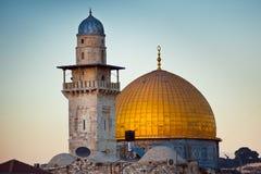 Cupola della roccia nella vecchia città di Gerusalemme, Israele immagini stock libere da diritti