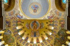 Cupola della st navale Nicholas Cathedral in Kronštadt Fotografie Stock Libere da Diritti