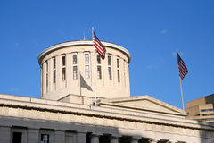Cupola dello Statehouse dell'Ohio fotografie stock libere da diritti