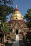 Cupola of Dhamma Ya Zi Ka Pagoda Bagan. Panoramic View of the archaeological park of the ancient temples and pagodas of Bagan. Myanmar royalty free stock photography