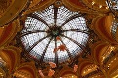 Cupola di Art Nouveau Galeries Lafayette Fotografia Stock