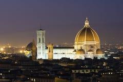 Cupola di Firenze al crepuscolo Fotografie Stock