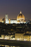 Cupola di Firenze al crepuscolo Immagini Stock Libere da Diritti