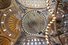 Cupola di Hagia Sophia a Costantinopoli Fotografie Stock