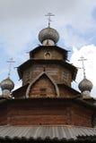 Cupola di legno. Museo di architettura di legno Fotografia Stock Libera da Diritti