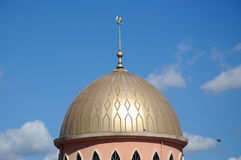 Cupola di nuova moschea di Masjid Jamek Jamiul Ehsan a k un Masjid Setapak Immagine Stock Libera da Diritti