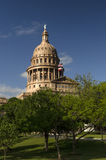 Cupola di Texas State sopra gli alberi fotografie stock libere da diritti