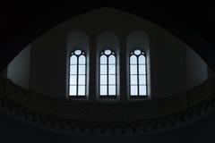 Cupola di Tonti delle finestre di Cerignola Fotografia Stock