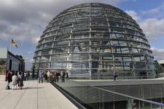 Cupola di vetro del Reichstag, Berlino Fotografie Stock Libere da Diritti