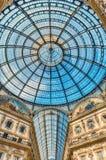 Cupola di vetro della galleria Vittorio Emanuele II, Milano, Italia Immagini Stock