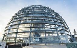 Cupola di vetro di Reichstag - tedesco Bundestag Fotografia Stock Libera da Diritti