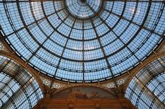 Cupola di vetro di Vittorio Emanuele II di galleria Fotografia Stock
