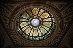 Cupola di vetro macchiato Immagini Stock