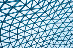 Cupola di vetro moderna della costruzione Fotografia Stock Libera da Diritti