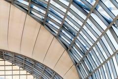 Cupola di vetro moderna della costruzione Immagine Stock