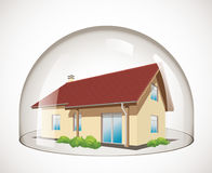 Cupola di vetro - protezione della Camera illustrazione di stock