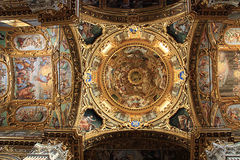 Cupola dome and central crossing of Santissima Annunziata del Va Stock Photo