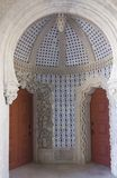 Cupola dome inside the Palacio de Pena Royalty Free Stock Images